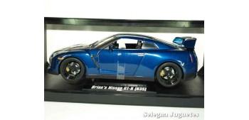 Brian 's Nissan Skyline GT-R (R35) azul Fast & Furious escala 1/18 Jada coche miniatura