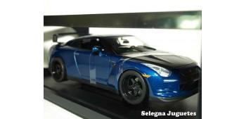coche miniatura Brian 's Nissan Skyline GT-R (R35) azul Fast &