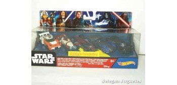Star Wars Lote 5 coches escala 1/64 Hot wheels coche miniatura