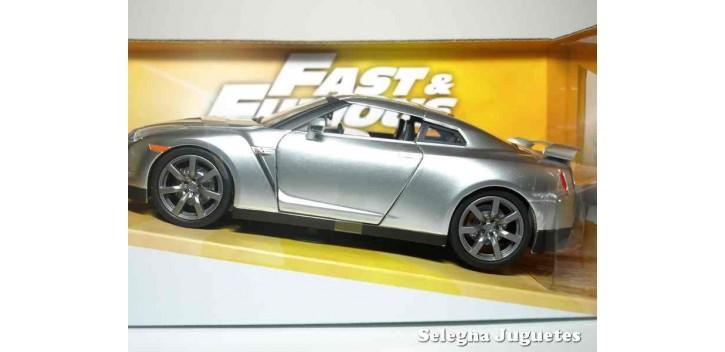 Brian 's Nissan GT-R (R35) gris Fast & Furious escala 1/24 Jada