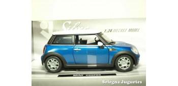 coche miniatura Mini cooper Azul 1/24 Xtrem