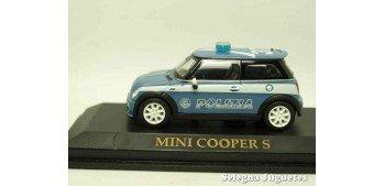 Mini Cooper S Polizia (Policia) Italia escala 1/43 Yat Ming coche metal miniatura Yat Ming