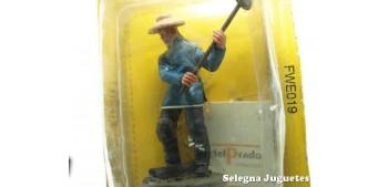 soldado plomo Trabajador chino del Ferrocarril 54 mm