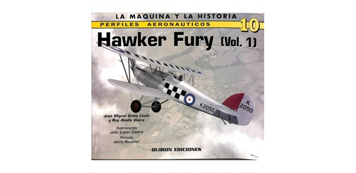 avion miniatura Avión - Libro - Hawker Fury (Vol. 1)