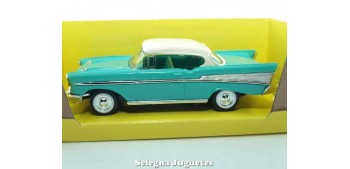 miniature car Chevrolet Bel Air Turquoise 1:43 Lucky Die Cast