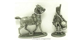 lead figure Drum and horse Gran Armée de Napoleón 1/32