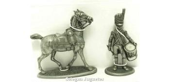 Tambor y caballo Gran Armada de Napoleon 1/32 Escala 54 mm