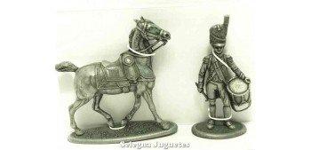 soldado plomo Tambor y caballo Gran Armada de Napoleon 1/32