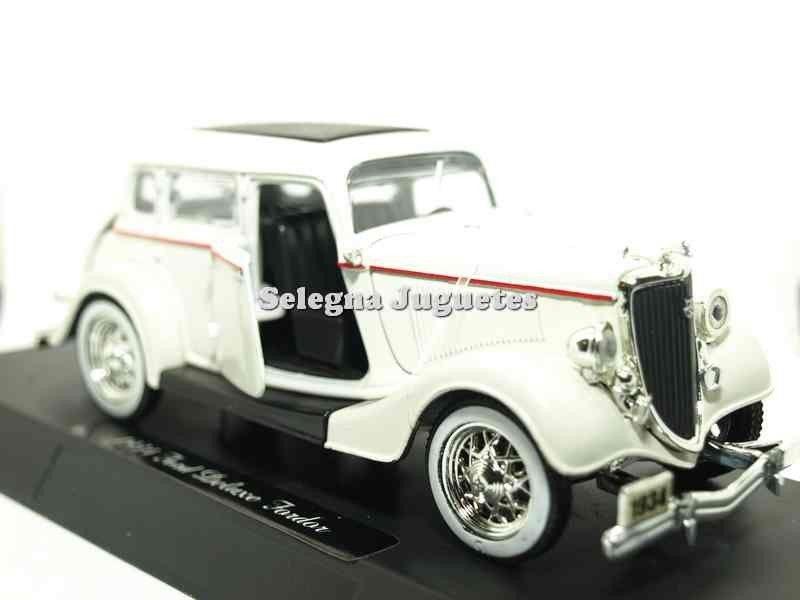 Coche En Escala Ford 1934 New Ray Fordor 132 Deluxe Miniatura yvNwn08Om