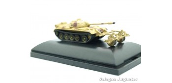 tanque miniatura T-55 MBT w/KMT-5 1/144 tanque (vitrina dañada)
