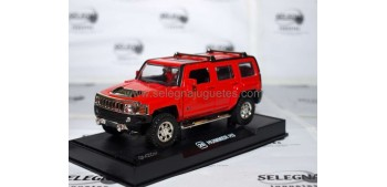 Hummer H3 rojo escala 1/32 RMZ Car miniatures
