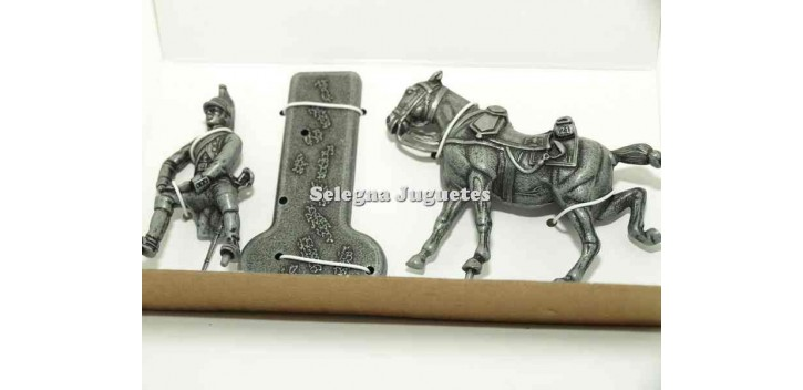 soldado plomo Dragon con caballo Gran Armada de Napoleon 1/32