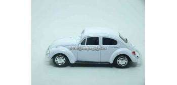 coche miniatura Volkswagen Beetle Blanco escala 1/43 Welly