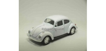 coche miniatura Volkswagen Beetle Blanco escala 1/43 Welly
