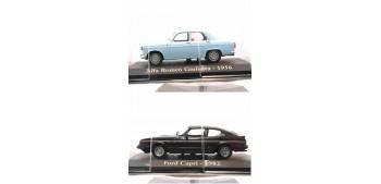 2x1 Ford Capri 1982 + Alfa Romeo Giulieta 1956 escala 1/43 Ixo - Rba Altaya