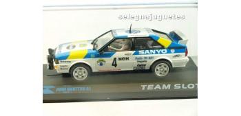 Audi Quattro A1 Stig Blomqvist - Bjorn Cederberg - Suecia 1982 - escala 1/32 slot coche metal miniatura Team Slot