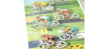 Lot of 6 Cyclist figurines Norev