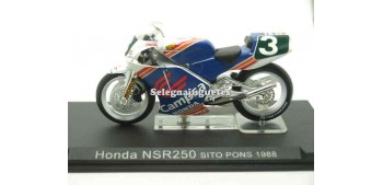 Honda Nsr 200 Sito Pons 1988 1/24 Ixo moto miniatura metal Ixo