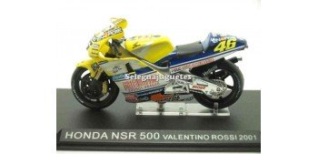 moto miniatura Honda Nsr 500 Valentino Rossi 2001 sin