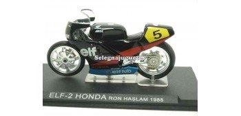 ELF-2 Honda Ron Haslam 1985 1/24 Ixo moto miniatura metal Ixo