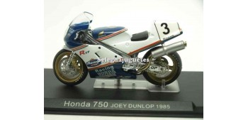 miniature motorcycle Honda 750 Joey Dunlop 1985 1/24 Ixo