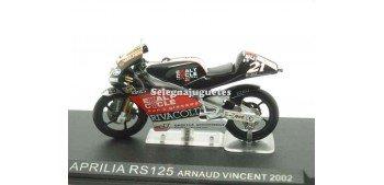 moto miniatura Aprilia Rs125 Arnaud Vicent 2002 1/24 Ixo