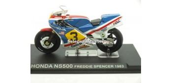 miniature motorcycle Honda Ns500 Freddie Spencer 1983 1/24 Ixo