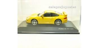 Porsche 997 GT3 amarillo vitrina 1/43 Yat mingcoche metal Yat Ming
