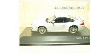 miniature car Porsche 997 GT3 White 1/43 Yat Ming