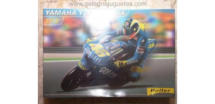 maqueta coches Yamaha YZR M1 2004 1/12 Heller Maqueta Moto para