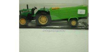 miniature truck TRACTOR CON REMOLQUE VERDE GUISVAL METAL