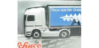 miniature truck Mercedes Benz Actros logo white 1/87 schucco
