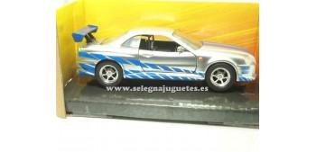 miniature car Brian`s Nisssan GT-R (R34) Fast & Furious 1/32