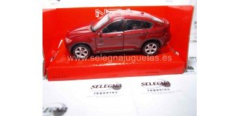 Bmw X6 rojo escala 1/34 a 1/39 Welly miniature car Welly