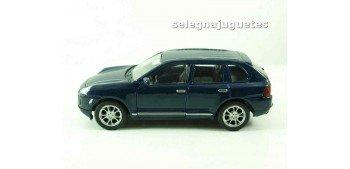 Porsche Cayenne Turbo azul escala 1/34 a 1/39 Welly Coche metal miniatura Welly