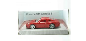 miniature car Porsche 911 Carrera S rojo 1/43 Mondo Motors