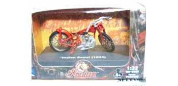 Indian Scout 1933 escala 1/32 New Ray moto minaitura New Ray