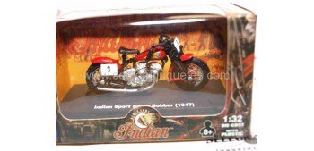 Indian Sport Scout Babber 1947 escala 1/32 New Ray moto minaitura New Ray