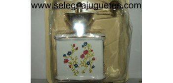 Molinillo café de porcelana con ramajes dorados