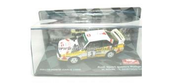 miniature car Audi Sport Quattro Rallye Rohrl Montecarlo 1/43