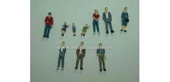 10 Figuras - Diorama 1/43 (artículo sin caja)