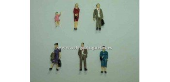6 Figuras - Diorama 1/43 (artículo sin caja)