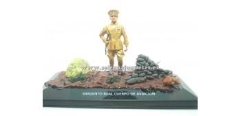 soldado plomo Diorama - Sargento Real cuerpo de aviación