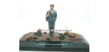 soldado plomo Diorama - E J cobber Kain escuadron nº 73