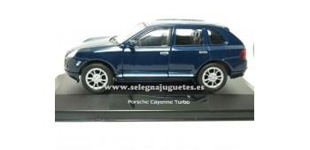 miniature car Porsche Cayenne Turbo azul (showbox) scale 1/34 a