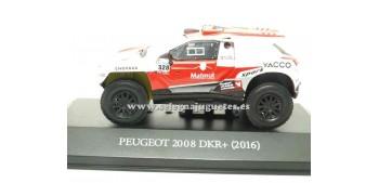 miniature car Peugeot 2008 DKR+ 2016 Dakar (showcase) 1/43 Ixo
