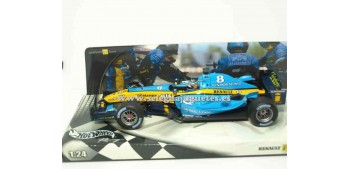 miniature car Renault R24 Fernado Alonso 2004 1/24 Hotwheels (