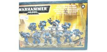 lead figure Warhammer 40000 10 space marine tactical squad