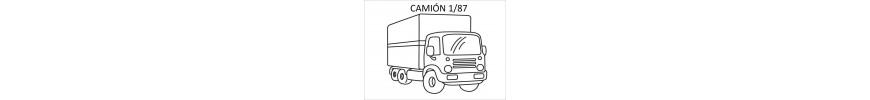 Camión a escala 1/87